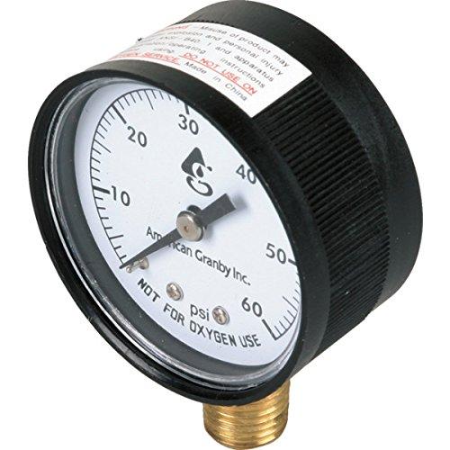 1/4 in NPT Bottom Mount Pressure Gauge - The Home Depot