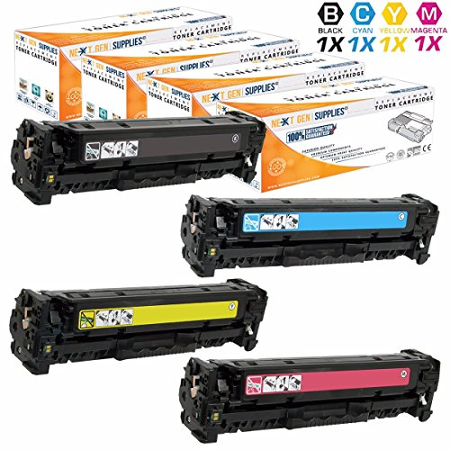 Next-GEN Supplies © Remanufactured Replacement for HP CP2026 Toner Cartridge Set - (Black, Cyan, Magenta, Yellow) CC530A, CC531A, CC532A, CC533A - (Black:3,500/Each Color:2,800 Page Yield) sale off 2016