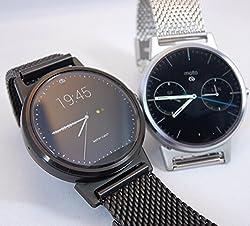 Biaoge Stainless Steel Metal Mesh Band Black Watchband For Motorola Moto 360 Smartwatch