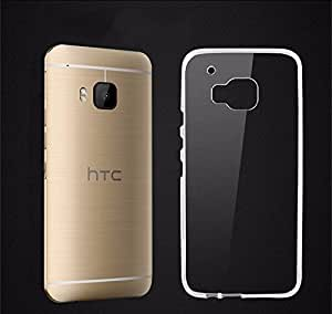 TOTTA Transparent Silicone Back Case Cover For HTC One M9- Transparent
