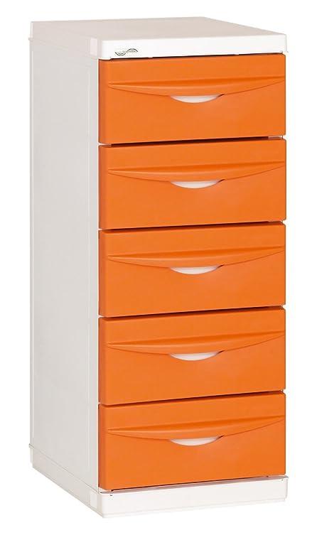 Maiol 6380-02-Cassettiera slim line Arancione liscio 92 x 46 x 40