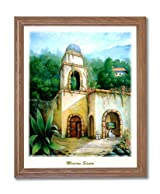 Southwestern Spanish Mission Landscape Home Decor Wall Picture Oak Framed Art Print