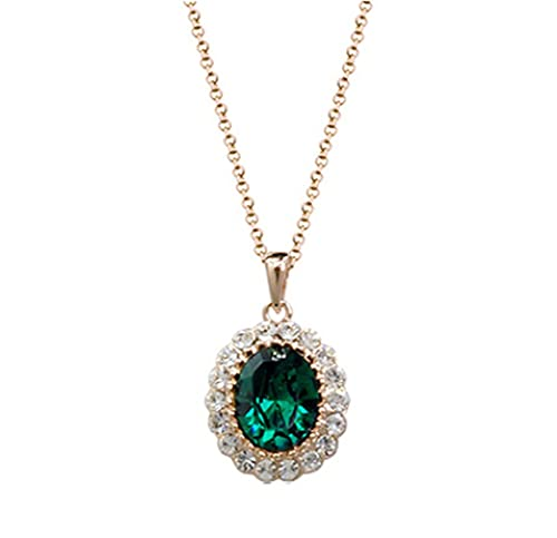 Oval-Shaped-Swarovski-Elements-Crystal-Pendant-Necklace-Fashion-Jewelry-for-Women