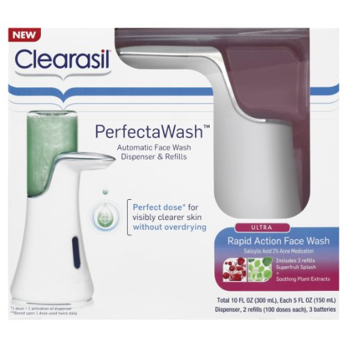 Clearasil Perfectawash Automatic Face Wash Dispenser and Refills, 10 Ounce