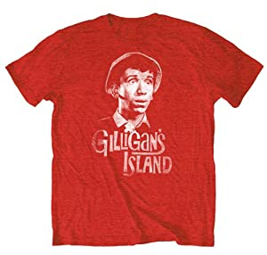 Hybrid Gilligan's Island GILLIGAN SURPRISED Red Slim Fit Adult Tee by Hybrid