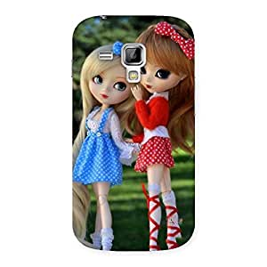 Enticing Sister Doll Multicolor Back Case Cover for Galaxy S Duos