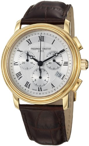 Frederique Constant  Watches savings price: Frederique Constant Men's FC292MC4P5 Persuasion Brown Strap Chronograph Watch