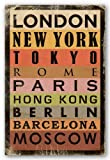 Cities - London New York Tokyo Rome Paris Hong Kong Berlin Barcelona Moscow Art Print Poster