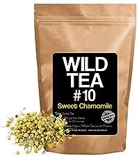 Sweet Chamomile Loose Leaf Herbal Tea, Organic Whole Chamomile Flowers, Wild Tea #10 by Wild Food (4 ounce)