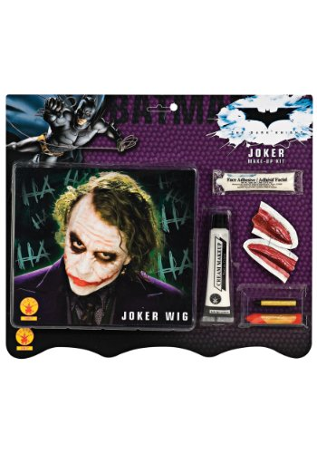 Batman Dark Knight Deluxe Joker Makeup Kit with Wig Costume