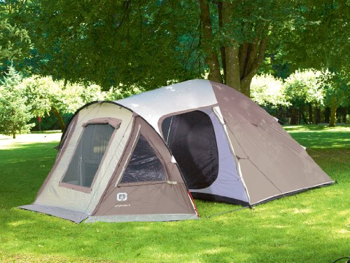 Outbound Longhouse 6 Person Two Room Family Dome Tent (Brown Large) & large camping tents: Outbound Longhouse 6 Person Two Room Family ...