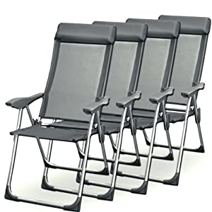 Camping chair set of folding chairs aluminium chair - Chaise pliante solide ...