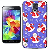 Santa Claus in Christmas Wonderland with Snowflakes Hard Case Clip On Back Cover For Samsung Galaxy S5 i9600 / G900