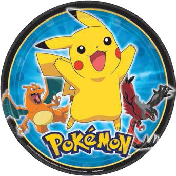 American-Greetings-Pokemon-Round-Plate-8-Count-9