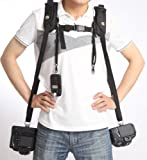 CowboyStudio Double Camera Harness/Strap for Digital SLR and Video (Double Harness)