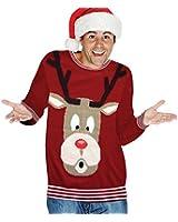 Digital Dudz Snowglobe Rudoph Nose Ugly Christmas Sweater