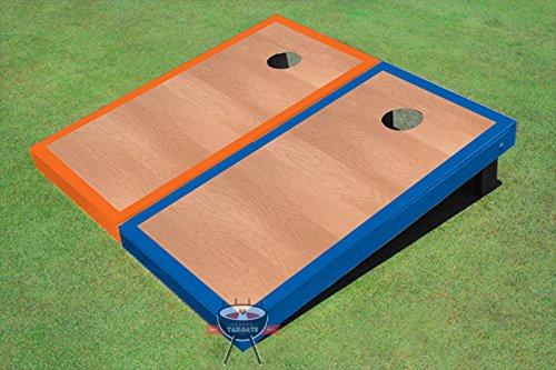 Rosewood Royal Blue And Orange Border Corn Hole Boards Cornhole Game Set
