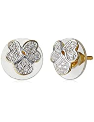Sia Art Jewellery Stud Earrings For Women (Golden) (AZ2605)