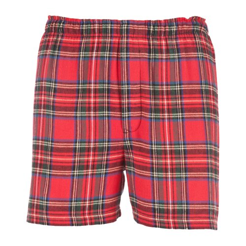 Boxercraft Herren Flanell-Boxer-Shorts / Boxer-Shorts (Large) (Stewart)