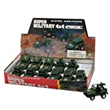 SUPER DIE-CAST MILITARY TOY JEEP PLAYSET - Assorted Die-cast pull back friction action Army Jeeps!