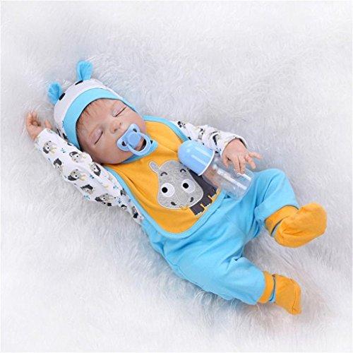 Fachel Reborn doll muñeca realista de silicona muñeca bebe dollsvinyl bebés recién nacidos 22inch 55cm como en la vida real Baby Doll muñeca Reborn chupete