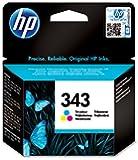HP 343 Cartouche d'encre d'origine Cyan Magenta Jaune