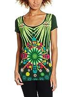 Desigual Camiseta Manga Corta Lili Rep (Verde)