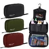 Naturehike Travel kits Wash Bag Large Capacity Male Womens Waterproof Camping Outdoor bags (Black)