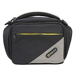 Evecase Black Medium SLR Camera Pouch Case with Shoulder Strap for Nikon COOLPIX L840 L830 L820 L810 P900 P520 P600 L310, D5500 D5300 D7100 D5100 D3300 D3100 D7000 Digital Camera/Camcorder