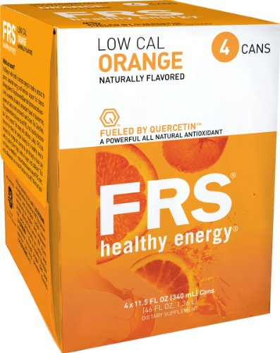 FRS Healthy Energy Liquid, Low Cal Orange, 11.5-Ounce Cans (Pack of 24)