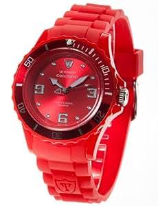 Detomaso - DT3007-E - Colorato - Montre Femme - Quartz Analogique - Cadran Rouge - Bracelet Silicone Rouge