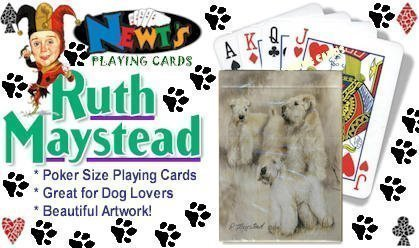 Best Friends Playing Cards, by Ruth Maystead - Soft Coated Wheaten Terrier - 1