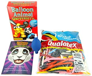 Balloon Animal University SUPERSIZED Kit with Qualatex 100 Count Traditional Assortment Balloons and NEW Online Video Training Series. Learn to Make Balloon Animals Starter Kit! from Imagination Overdrive, Inc.