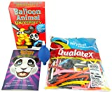 Balloon Animal University SUPERSIZED Kit. Learn to Make Balloon Animals Starter Kit with Qualatex 100 Count Traditional Assortment Balloons