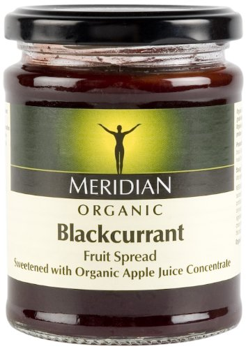 Meridian Organic Blackcurrant Fruit Spread 284 g (Pack of 6)