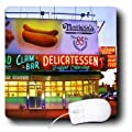 3dRose LLC Coney Island Nathans Hot Dog Pattern Mouse Pad (mp_1190_1)