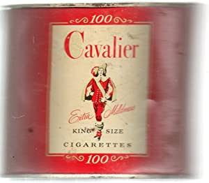 Vintage Cigarette Can: Cavalier 100, Extra Mildness King Size, Circa 1953
