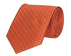 Tiekart Self Design Men'S Tie (Dm181_Orange)