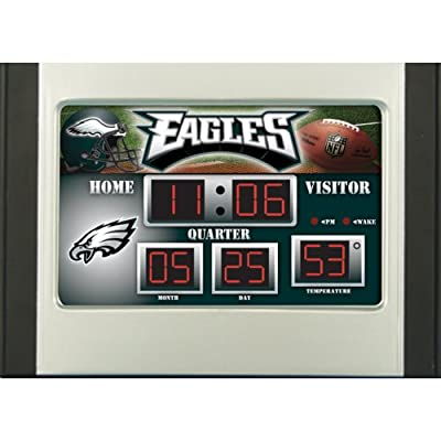 Team Sports Philadelphia Eagles Scoreboard Desk Clock