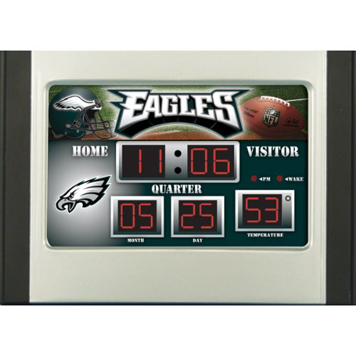 Team Sports Philadelphia Eagles Scoreboard Desk Clock