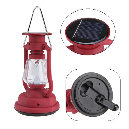 Image® Hand Crank And Solar Powered Led Lantern 5.5V/ 50Ma Solar Panel For Outdoor & Indoor