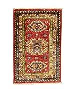 Eden Carpets Alfombra Kazak Super Rojo 90 x 60 cm