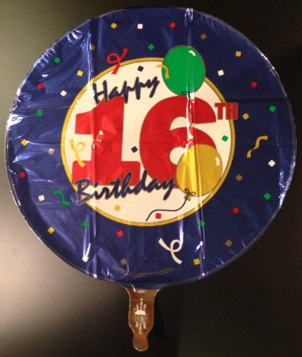 """Happy 16th B-day"" Balloon 18"" Mylar (Pack of 4) - 1"