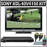 Sony Bravia V-Series KDL-40V4150 40-inch 1080P LCD HDTV + Sony DVD Player w/ Accessory Kit