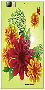 Snoogg Spring Flowers Designer Protective Back Case Cover For Lenovo A6000