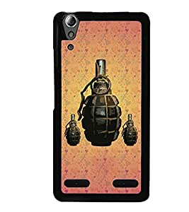 PrintVisa Metal Printed Hand Bomb Designer Back Case Cover for Lenovo A6000-D5089