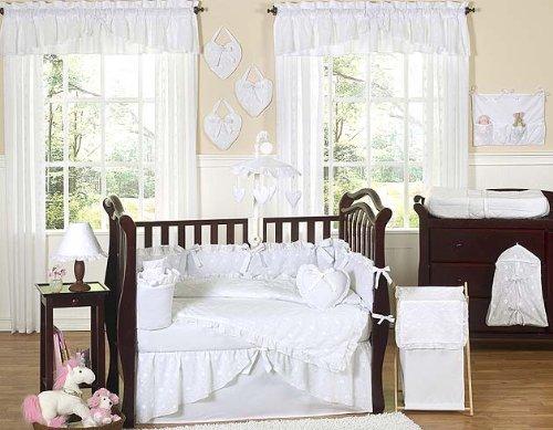 White Crib Bedding Set front-39857
