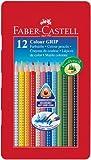 Faber-Castell 112413 - Farbstifte Colour GRIP, 12er Blechetui von Faber-Castell
