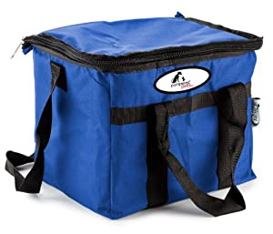 Pampered Pets Soft Sided 24 Can Insulated Cooler, Blue, 9 x 11-Inch
