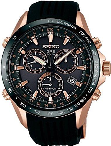 Men's Watch - SEIKO Astron - Solar - Chronograph - GPS Control and Perpetual Calendar - SSE022J1